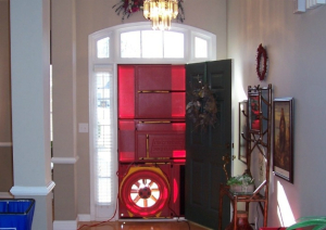 Blower door testing is used to measure the airtightness of the home